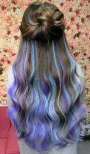 blue tips dyed hair