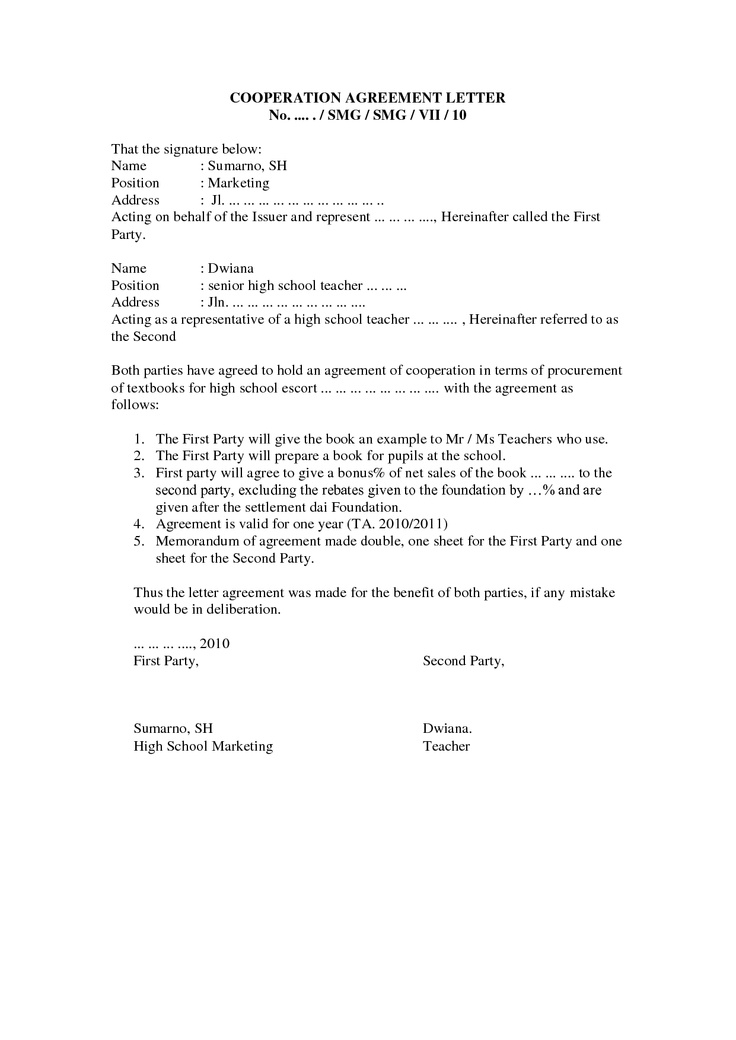 Sale Agreement Letter Letter To End A Hire Purchase Or