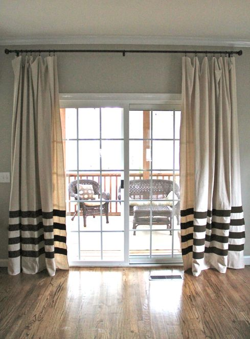 25 Best Ideas About Sliding Door Curtains On Pinterest Door