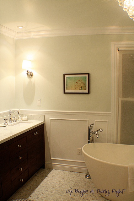 25 best images about Wainscoting Ideas on Pinterest  Traditional bathroom Dark wood and Mint walls