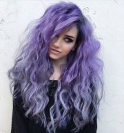 ideas purple hair