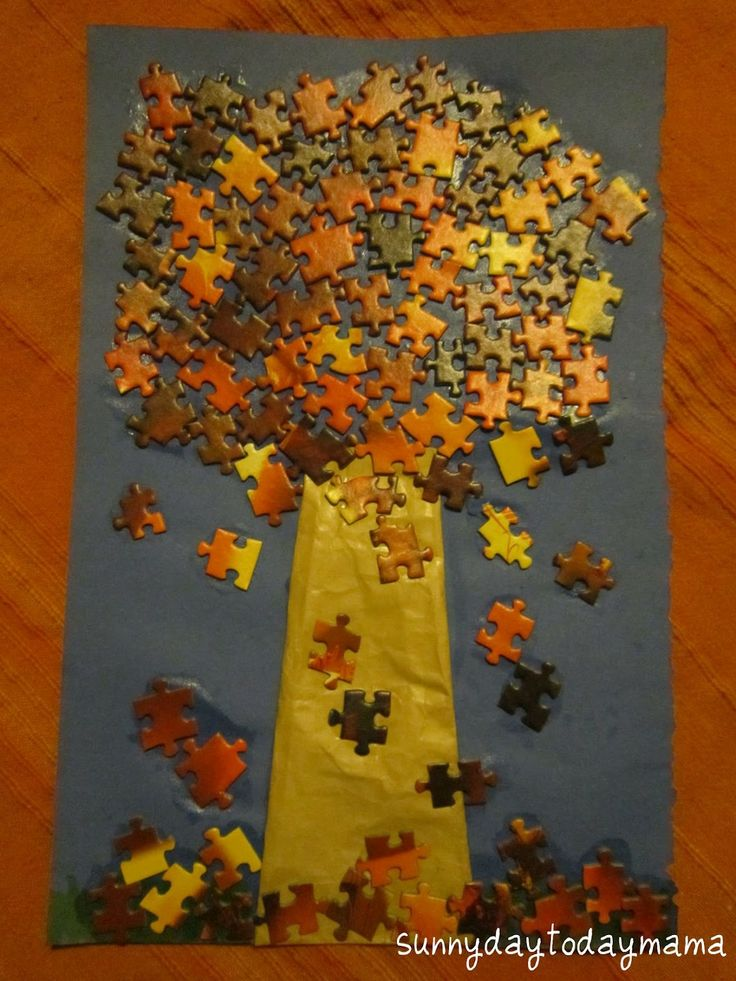 56 Best Images About Puzzle Pieces Crafts On Pinterest Autism Awareness Christmas Ornament