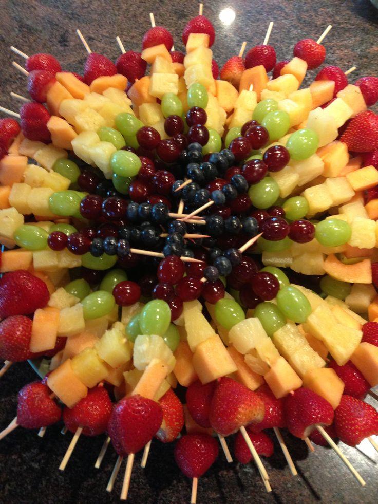 25 Best Ideas About Rainbow Fruit Kabobs On Pinterest