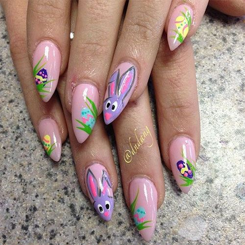17 Best images about Easter Acrylic Nail Art on Pinterest