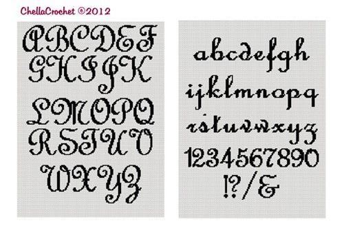 151 best images about cross stitch alphabets on Pinterest