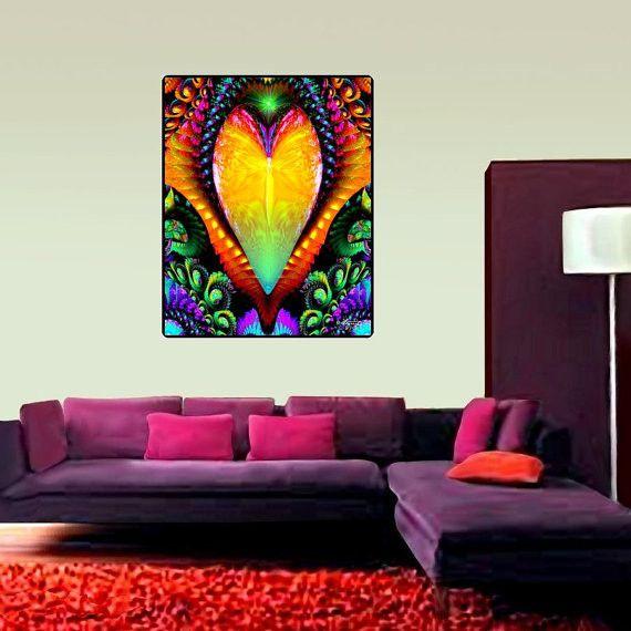 Chakra Wall Art Reiki Healing Decor Psychedelic Tapestry Universal Love Reiki Chakra And