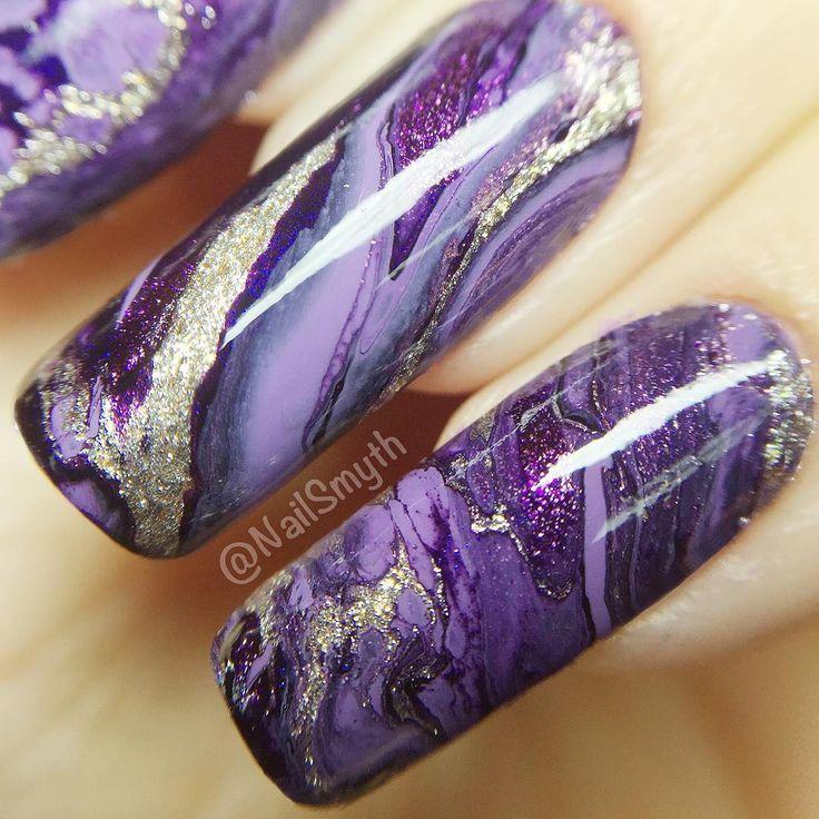 17 Best ideas about Purple Nail Designs on Pinterest