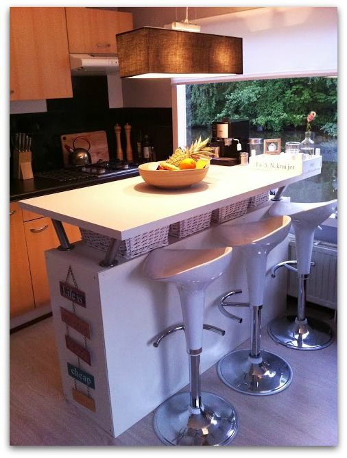Turn your Expedit or Kallax into a Kitchen Island and Bar  Kitchen  Pinterest  Bar Islands