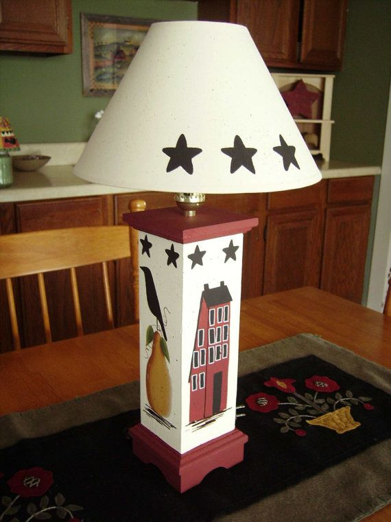 Primitive Country Table Lamp