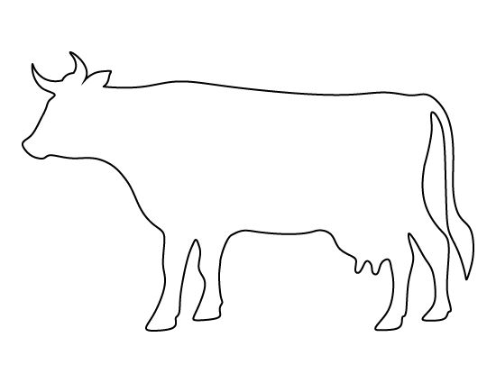 Cow pattern. Use the printable outline for crafts
