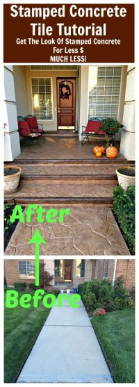 25+ best ideas about Concrete porch on Pinterest | Stained ...
