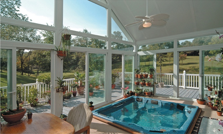 17 Best images about Sunrooms with Hot Tub Jaccuzi on