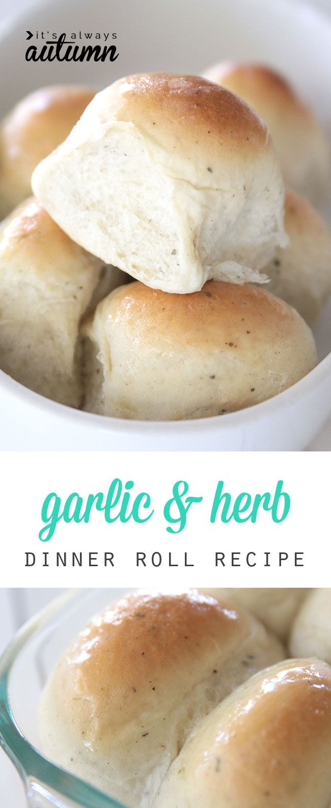 these garlic & herb dinner rolls are amazing! soft and light and flavorful and just plain good. great recipe & step by step photo