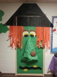 Teacher across the hall witch door decor