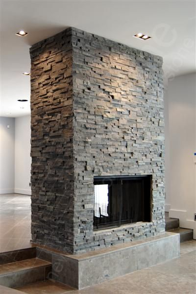 1000 ideas about Stacked Rock Fireplace on Pinterest  Rock Fireplaces Stacked Stone