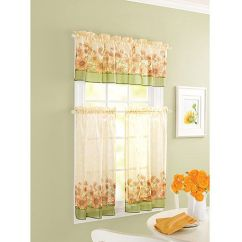 French Lace Kitchen Curtains Stainless Steel Pendant Light Sunflower Theme Windows Walmart | Home ...