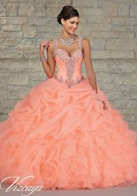 Quinceanera dresses by Vizcaya Ruffled Organza Skirt with ...