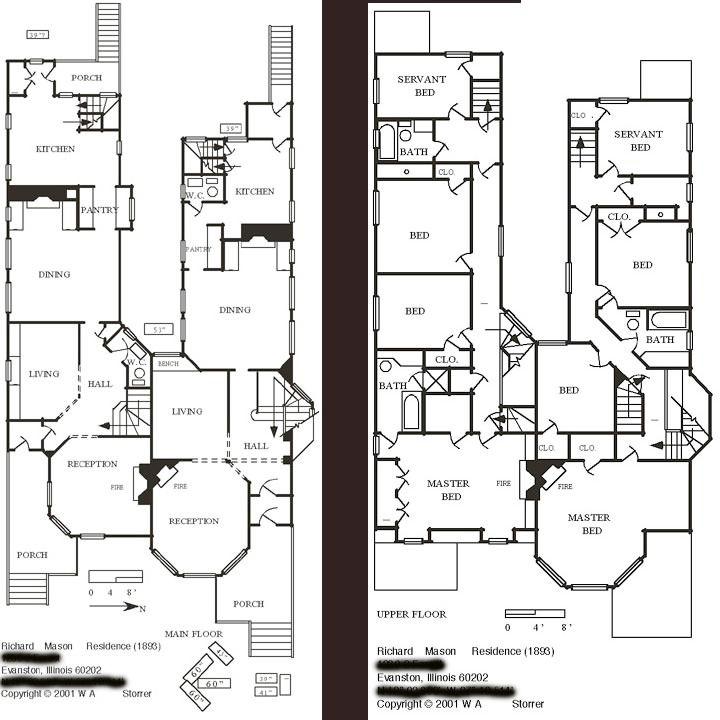 walter gale house floor plan, frank lloyd wright