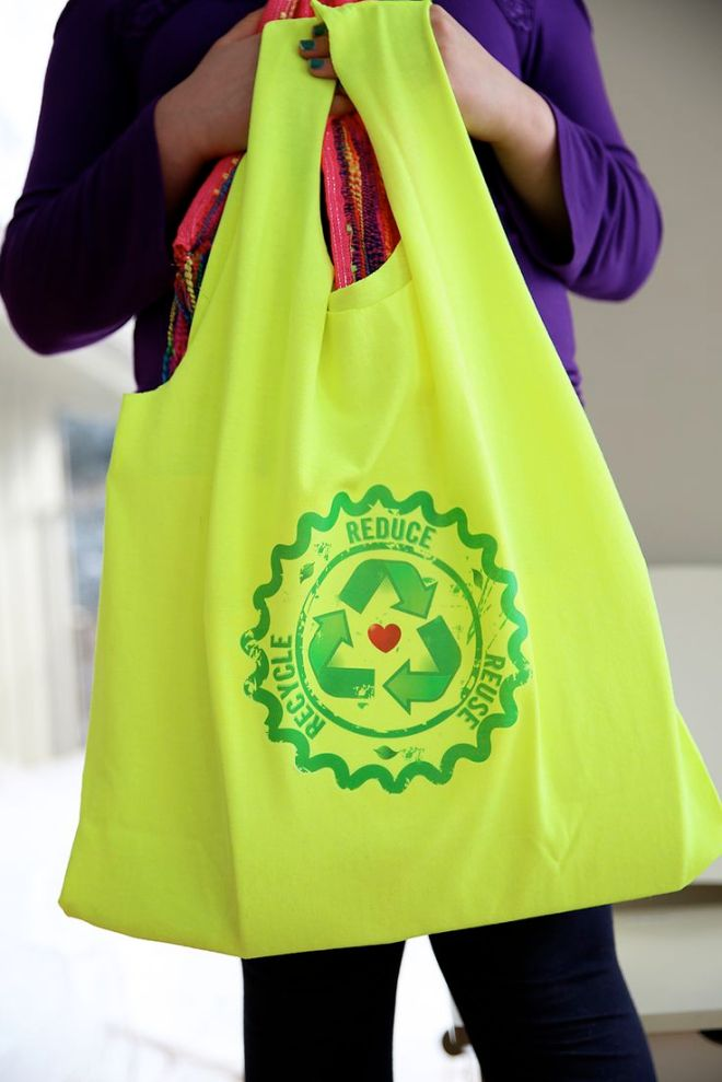 Hate plastic grocery sacks learn how to create a recycled