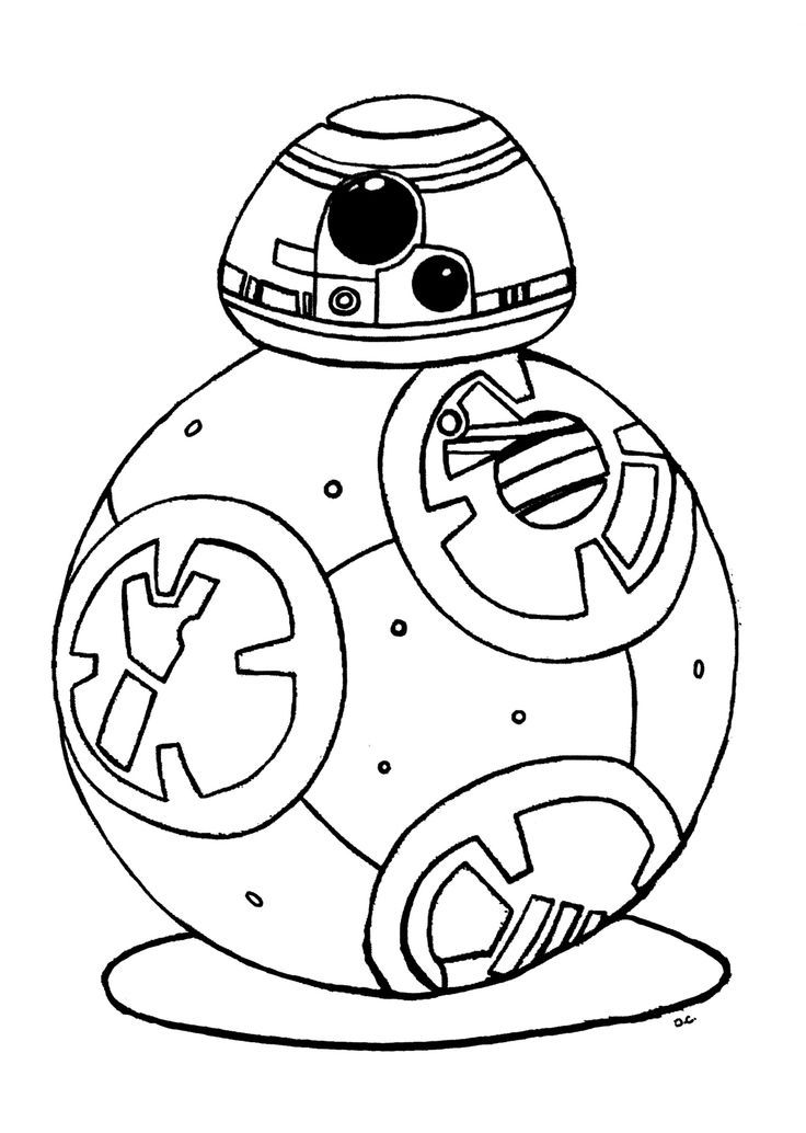 Original coloring inspired by BB-8 Droid, new character