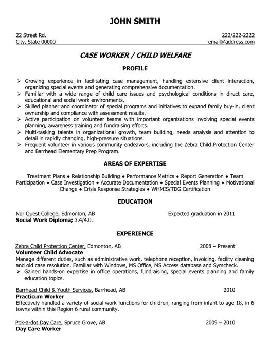 Click Here to Download this Child Welfare Case Worker