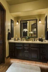 dark cabinets, yellow walls master bath | Home deccorr ...