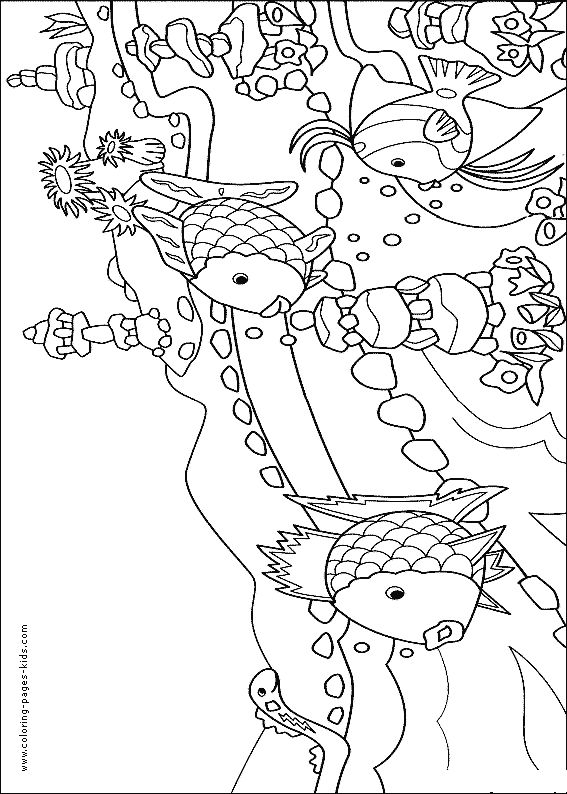 Coral reef Fish color page, animal coloring pages, color