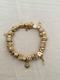 white gold charm bracelet pandora