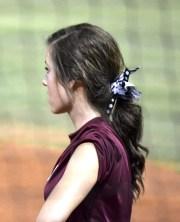 #softball #hair #curly #ponytail