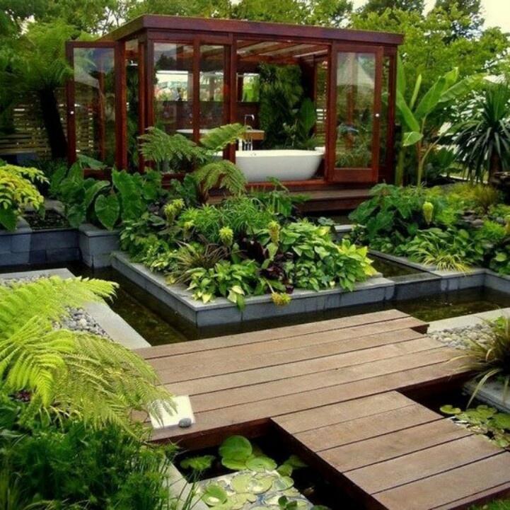 Mansion Winter Garden Interior Design In Country House Style