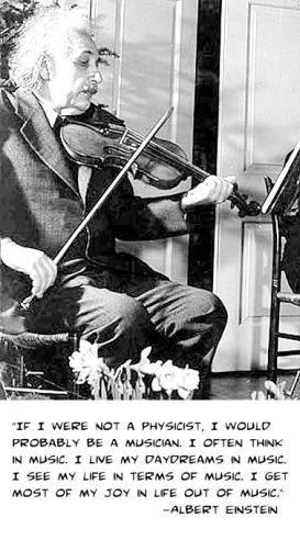 Einstein on music