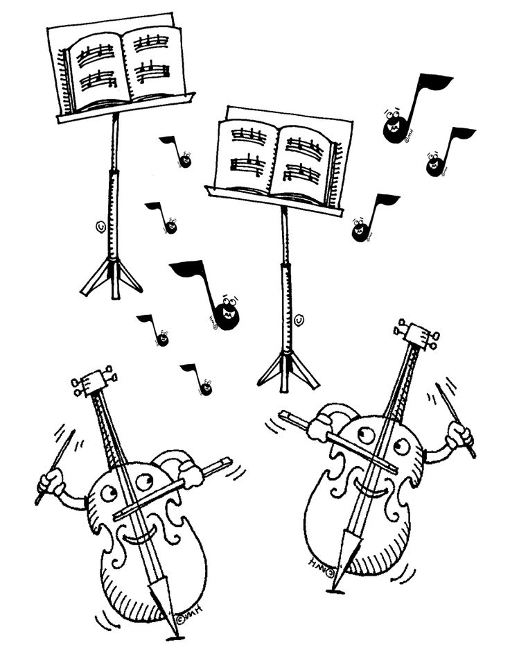 Free Violin Clip Art: Here is a coloring sheet for young