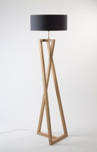 mid century modern wood floor lamp