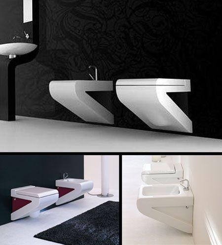 Nouveau White Wall Mounted Toilet 33J  Bathroon and Powder Room  Pinterest  White walls UX