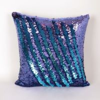 Mermaid Pillow - Purple and Turquoise Reversible Sequin ...