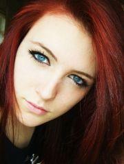 red hair blue