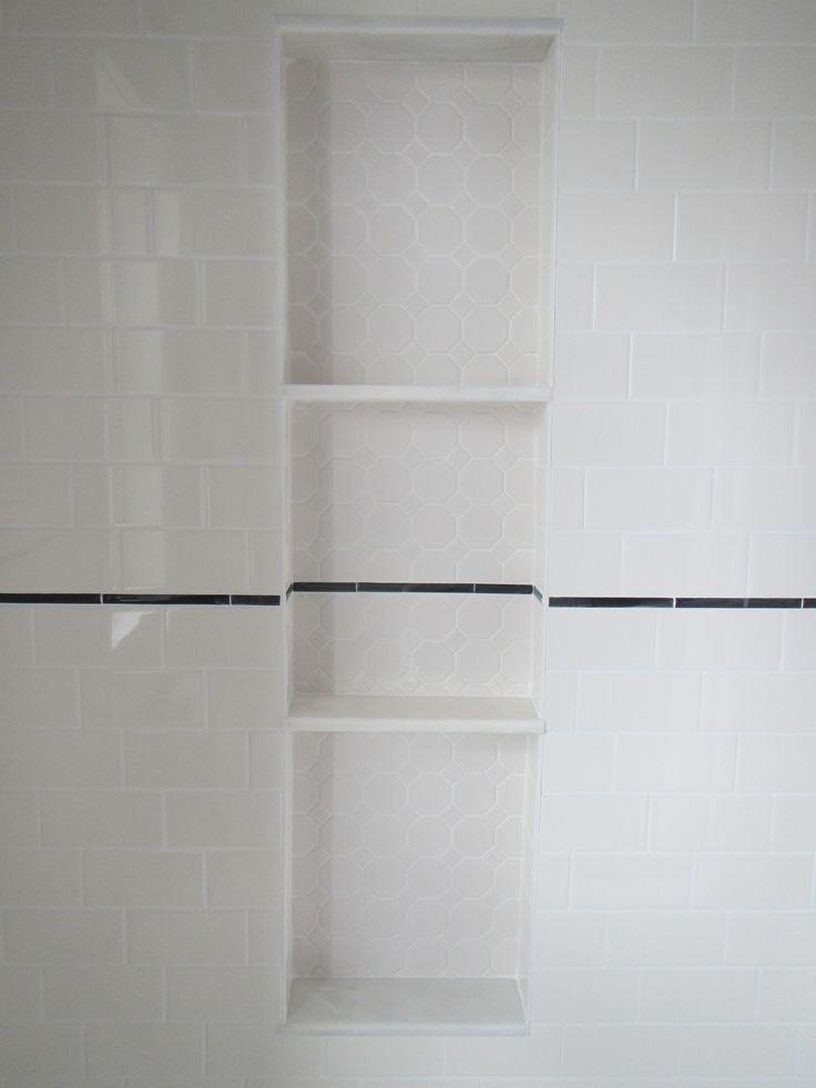 My Bathroom Reno Shower Niche Alcove With Hexagon Tile