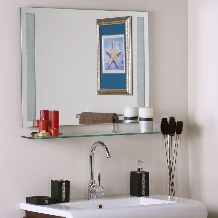 17 Best ideas about Bathroom Mirror With Shelf on