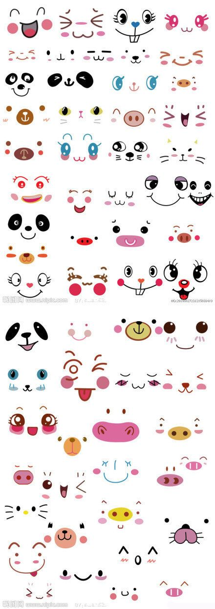 DIY simple pen cute face
