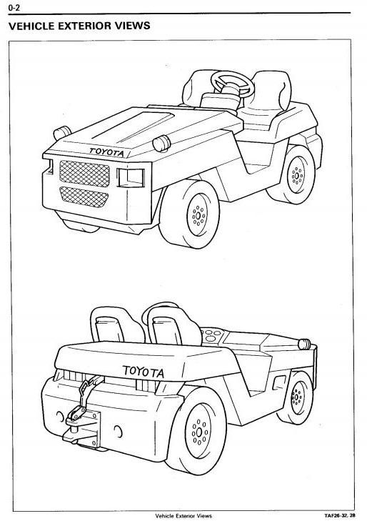 Toyota Towing Tractor Type 2TD20, 2TD25, 2TG20, 2TG25