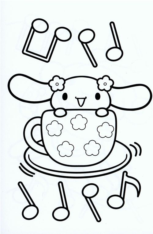 84 best images about hello kitty coloring pages on