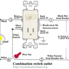 3 Way Multiple Light Wiring Diagram Of Ups How To Install Inverter In 2 Rooms Wire Switches Combination Switch/outlet + Fixture Turn Outlet Into ...