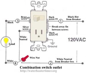 How to wire switches Combination switchoutlet  light fixture Turn outlet into switchoutlet