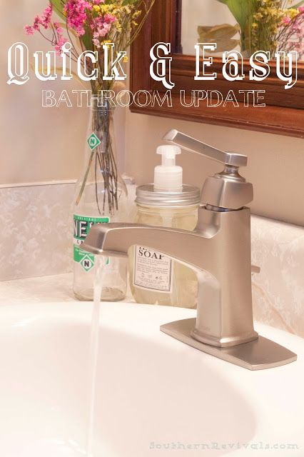 How to Install a Faucet  Faucets Bathroom faucets and Easy bathroom updates