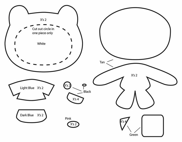 How to Make an Adventure Time Finn plushie template