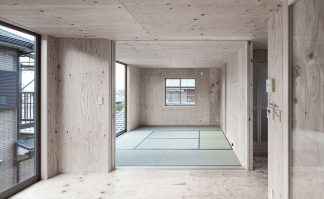 Modern Japanese Danchi House Plywood Interior 2 Plywood