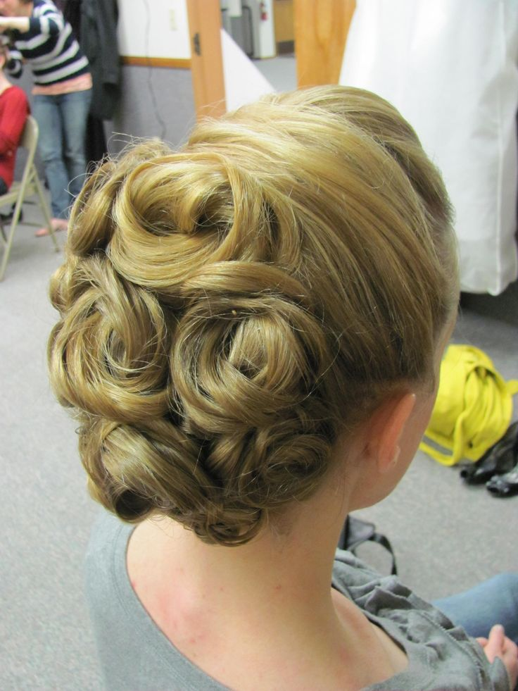 17 Best ideas about Pin Curl Updo on Pinterest  Hair updo
