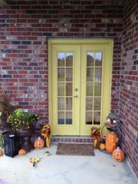 Yellow door red brick | Yellow door | Pinterest