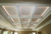 Correctly lighting a coffered ceiling will make the room ...