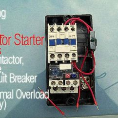 Auto Ac Parts Diagram 2008 Gsxr 750 Wiring Sizing The Dol Motor Starter (contactor, Fuse, Circuit Breaker And Thermal Overload Relay ...